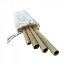 Natural Bamboo Straws (Pack...